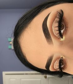(notitle) - ↬ make up - Eye-Makeup Makeup Eye Looks, Eye Makeup Art, Hooded Eye Makeup, Cute Makeup, Gorgeous Makeup, Pretty Makeup, Skin Makeup, Eyeshadow Makeup, Prom Makeup
