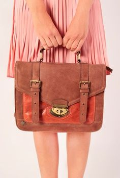 Summer hand bag, brown and red