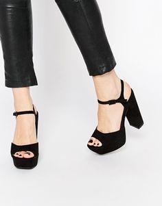 Missguided Ankle Strap Platform
