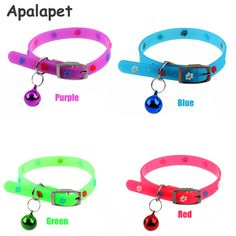 Silicone Floral Cat Collar Bell Collar Flower Puppy Dog Collar Plain Pet  Quick Release Cat Bell Collar Cat Product Gatos
