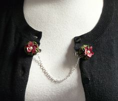 glam guards no 12  embellished silk yoyo sweater clips by cookoorikoo