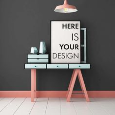 8 mockups posters in color interior by FilL239 on @creativemarket