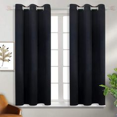 BGment Blackout Curtains  Grommet Thermal Insulated Room Darkening Bedroom and $59.99  - Room Darkening Curtains - Ideas of Room Darkening Curtains #RoomDarkeningCurtains Black Curtains, Sheer Curtain Panels, Velvet Curtains, Lined Curtains, Colorful Curtains, Grommet Curtains, Sheer Curtains, Girls Bedroom Curtains, Insulated Curtains