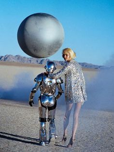 I will hang out with this robot in this fabulous silver getup.