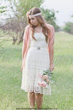 Crochetemoda: Vestido branco de crochet VI