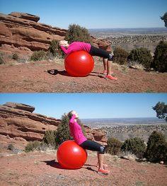Ćwiczenie na piłce stabilizującej I
