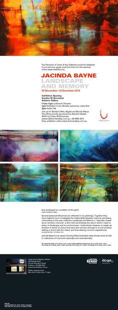 Amnet Webmail :: Jacinda Bayne: Landscape and Memory, opening Sunday 30 November December 2014, Sunday, Memories, Landscape, Gallery, Design, Art, Domingo, Craft Art
