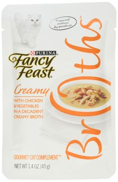 Purina Fancy Feast Broths Creamy Chicken and Vegetables 32 by 1.4 oz.