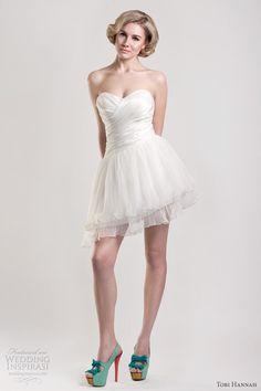 4fba620a1b18 Tobi Hannah Spring 2013 — Modern Future Classics Bridal Collection. Abiti  Di AccoglienzaMini Abiti Da SposaAbito ...