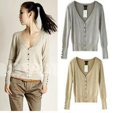 Colors Available: Dark Gray, Khaki, Black, Light Gray  Size: One Size Bust:96cm  Shoulder Wide: 39cm  Sleeve Length: 59cm