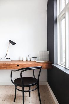 black accent wall in home office. / sfgirlbybay