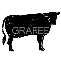 黒毛牛のイラスト_サムネイル