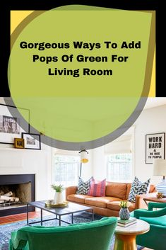 Most people love green. Green is the color of freshness, nature, and spirit. When you apply that color for your living room, it will boost your mood every day Living Room Cabinets, Beautiful Living Rooms, Green Colors, Spirit, Decor Ideas, Homes, Mood, Lifestyle, Decoration