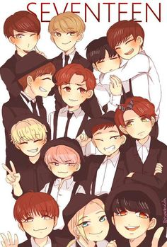 Seventeen Fanart ~ Jun, The8, Wonwoo, Mingyu, DK, Seungkwan, Hoshi, Woozi, Dino, Vernon, Joshua, Jeonghan, and S.Coups