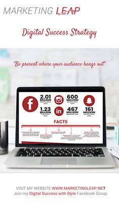 """""""Going social"""" isn't simply about being active on Facebook and Instagram. It's about being present where your audience hangs out—so you can engage with them, build relationships, and make offers your followers will love.  The key is to develop a digital marketing strategy so you show up where your ideal customers are already hanging out, (I have an awesome infographic here if you are not sure) then use a strategic mix of digital platforms to connect with them in in different ways.   Want to… Digital Marketing Strategy, Hanging Out, Platforms, Followers, Connect, Infographic, Relationships, Success, Key"""