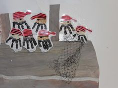 Handprint pirates in Miss Kelly's Classroom