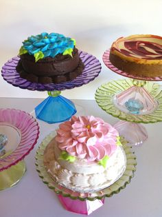 Not Just for Cupcakes Hand Painted Mini Cake Stand by MarshHome, $18.00