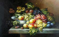 still life oil paintings of fruit | Still Life Fruit 18 (Painting ID: SL-2218-KA)