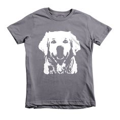 Golden Retriever Kids T-shirt, Custom Childrens Tshirts, Personalized Toddler T Shirt, Youth Shirt, Dog Themed Gift, Niece Gift, Son Gift by MONOFACESoCHILDREN on Etsy