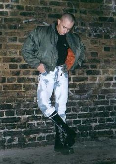 Admiring his own bleacher bulge…………. Skinhead Men, White Lace, Black Boots, Hot Guys, Leather Pants, Clothes, Bikers, Apple, Classic