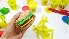 Play Doh Hamburger How to make hamburger with Play Doh Peppa Pig Disney ...