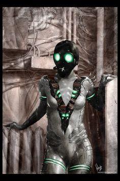 Cyborg #Goth girl by Lorez