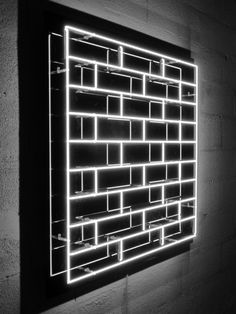 Helder Batista   Brick by Brick⊚ pinned by www.megwise.it #megwise Neon Jungle, All Of The Lights, Neon Lighting, Wall Lighting, Light Project, Light Installation, Light Art, Creative Design, Signage