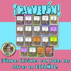 Initial Syllables for all 29 Spanish Letters MEGA BUNDLE in Spanish! ¡Paquetón! POSTERS y TARJETAS de sílabas iniciales en palabras con a, b, c, ch, d, e, f, g, h, i, j, k, l, ll, m, n, ñ, o, p, q, r, s, t, u, v, w, x, y, z en ESPAÑOL ♦ ♦ ♦ If you have purchased any of the POSTERS y TARJETAS de sílabas iniciales en palabras con...
