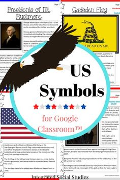 Spend time learning about America's most important symbols and the history behind them with this informative TpT resources made especially for Google Classroom™. Readings are split into five groups making it possible for social studies centers or to split the lesson so it lasts a week. However you use it, it is a prep-free lesson, giving you more time to spend on other things. #tpt #elementarysocialstudies