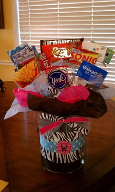 Gift card bouquet