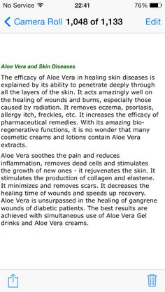 Aloe and the skin