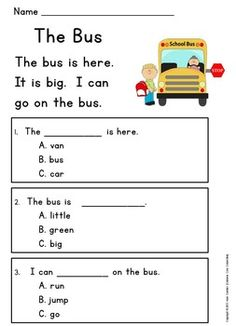 Very First Reading Comprehension Passages: Guided Reading Level C