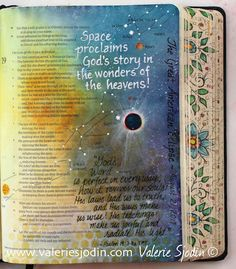 Bible Journaling the Great American Eclipse-Part 2 in light of Psalm 19 includes how to video and photos of witnessing the August 21, 2017 eclipse