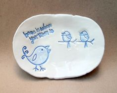 For Mom Chick Hand built Trinket Dish by dgordon on Etsy.