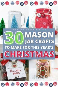 Mason Jar Christmas Crafts, Neighbor Christmas Gifts, Christmas Crafts For Gifts, Homemade Christmas Gifts, Jar Crafts, Bottle Crafts, Christmas Presents, Christmas Holiday, Christmas Ornament