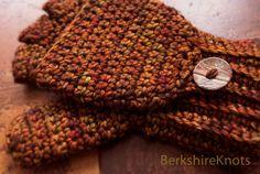 Wool convertible fingerless gloves / mittens / by BerkshireKnots