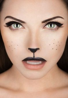 New Women's adult makeup cat (kitty) Halloween costume 2014 #halloween #makeup #costume