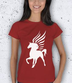 Cyber Monday Pegasus Figure Women TShirt / Special by pankarts, $27.90