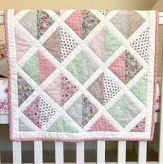 Hope you had a lovely weekend! I was sat out in the Sunshine finishing my Liberty baby quilt, another project off the list!No photo description available. Quilt Baby, Baby Quilt Size, Baby Patchwork Quilt, Cot Quilt, Patchwork Quilt Patterns, Baby Girl Quilts, Girls Quilts, Quilt Patterns Free, Quilts For Babies