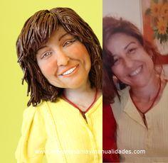 Figura personalizada mujer 40 aniversario
