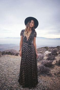 Stars Wrap Maxi Dress