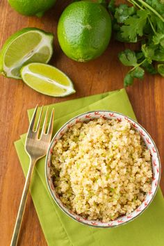 Coconut Lime Quinoa -- 3 ingredients and insanely easy prep (use your rice cooker!) make this delicious quinoa recipe a go-to weeknight side dish. Total winner! | via @unsophisticook on unsophisticook.com