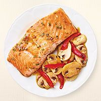 Salmon Teriyaki with Mushrooms