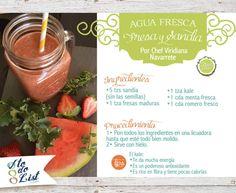 Receta: Agua Fresca Fresa y Sandía