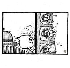 جدار فاصل  ...! #Palestine #Cartoon #saraqaed #Caricature #Arab