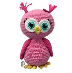 Cute Crochet Patterns Amigurumi Pink owl free crochet pattern - This crochet pattern for a pink amigurumi owl is absolutely free! This cute owl make the perfect gift for that little girl or boy and is completely ready for snuggles! Owl Crochet Patterns, Crochet Birds, Owl Patterns, Cute Crochet, Amigurumi Patterns, Amigurumi Doll, Crochet Animals, Crochet Crafts, Crochet Projects