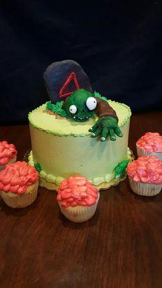 Zombies love brains. Birthday cake.