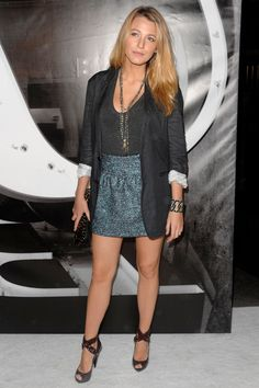 MAY 2009 - blake lively attended the opening of Burberry's New York store in a skirt from Burberry's pre-autumn/winter 2009-10 collection.
