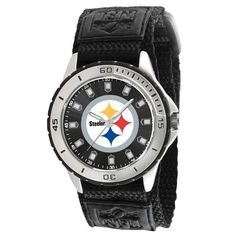 GO BLACK AND GOLD!  http://www.javisports.com/collections/pitsburgh-steelers/products/pittsburgh-steelers-watch-veteran-series