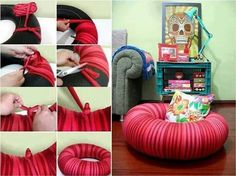 Tire tube seating dog bed